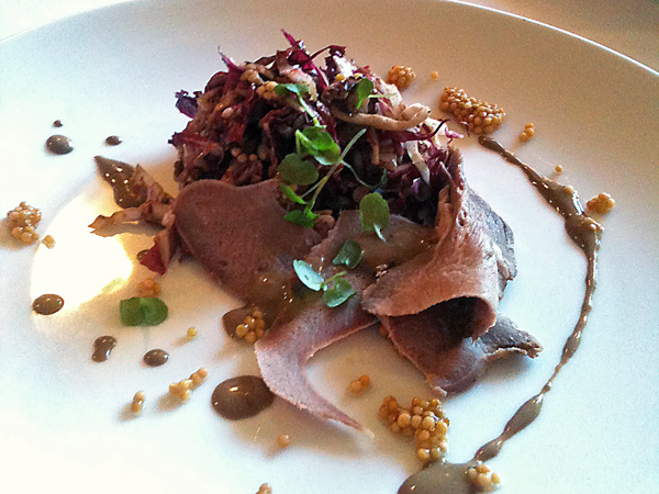 Braised Beef Tongue & Pickled Mustard Seeds