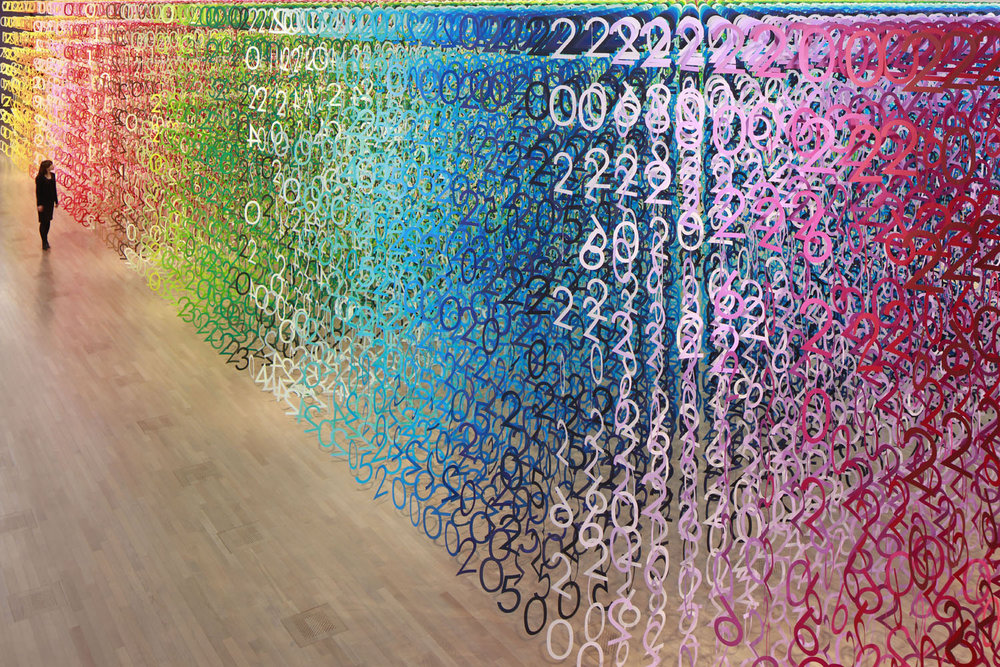 Rainbow Forest of Numbers by Emmanuelle Moureaux