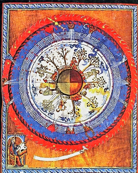 """Glance at the sun. See the moon and the stars. Gaze at the beauty of earth's greenings. Now, think. What delight God gives to humankind with all these things. . . . All nature is at the disposal of humankind. We are to work with it. For without we cannot survive.""   — Hildegard of Bingen"