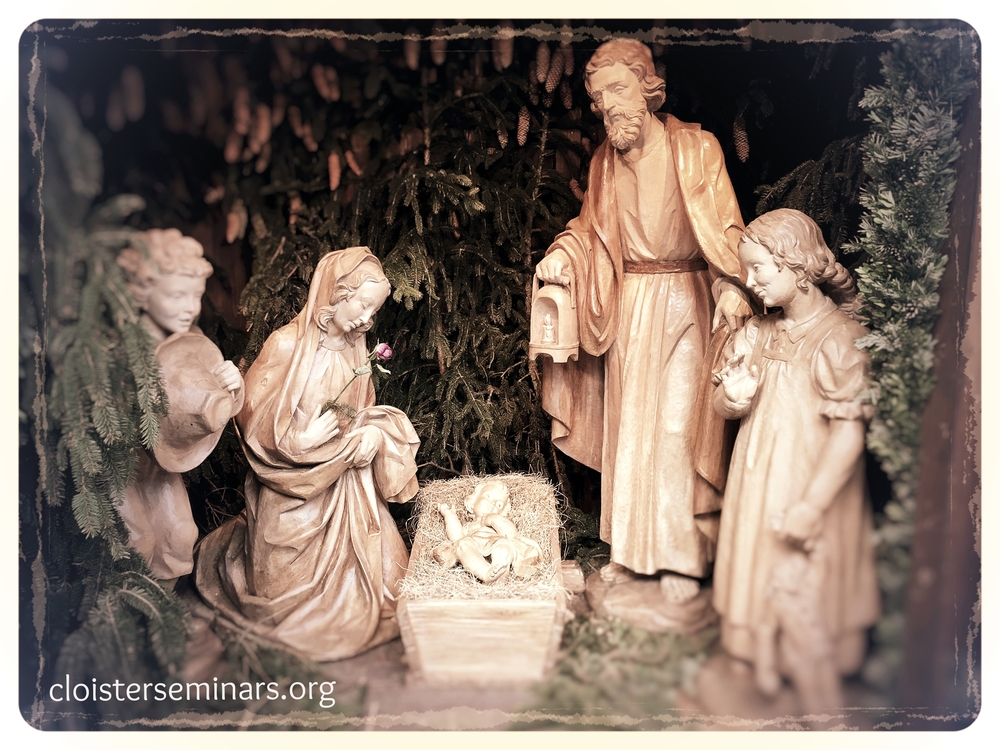 """The manger scene at the """"Krippelmarkt"""" in Munich. There you will find all sorts of hand crafted manger figures and accessories for serious manger enthusiasts.Foto: A.F."""