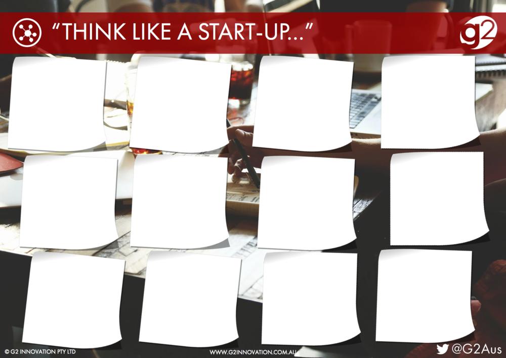 Think Like a Start Up