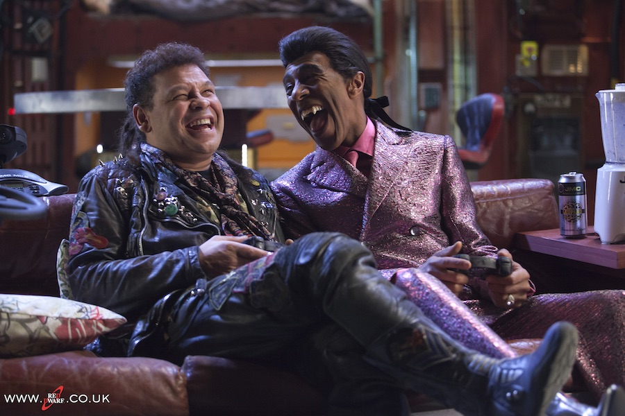 Craig Charles and Danny John Jules working hard