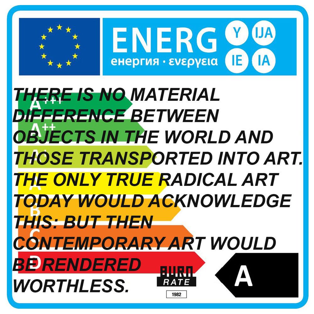 """ENERGIJA 2015""   Get a BURNRATE -ism Sticker. Contemporary Art is worthless."