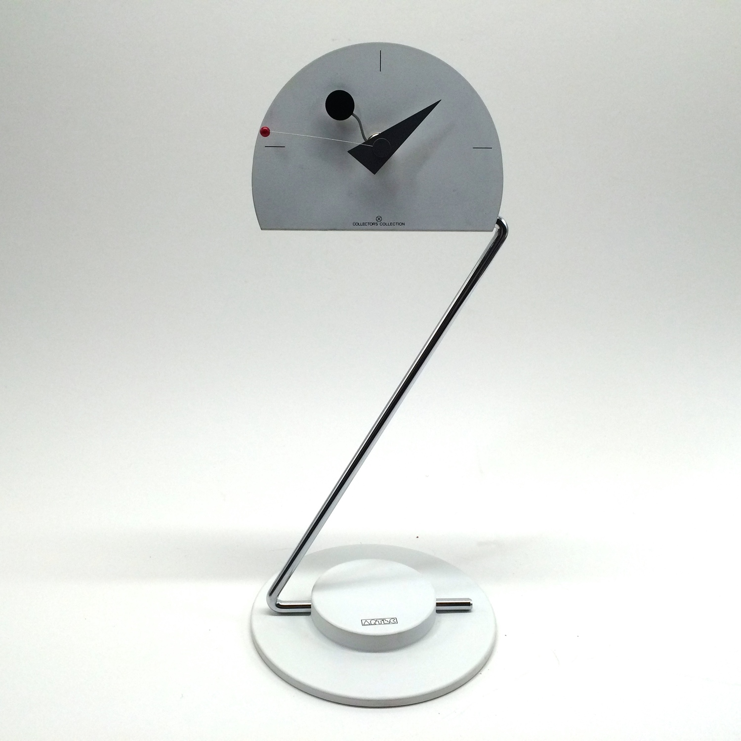 ARTEC white geometric Table Clock Collectors Collection by Canetti —  BURNRATE