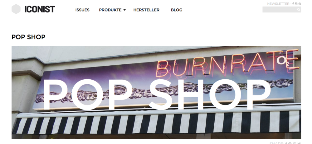 BURNRATE is prominently featured on ICONIST. Read it  here.  <----