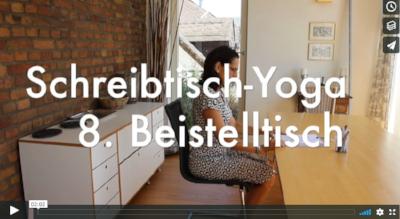 Schreibtisch-Yoga Teil 3