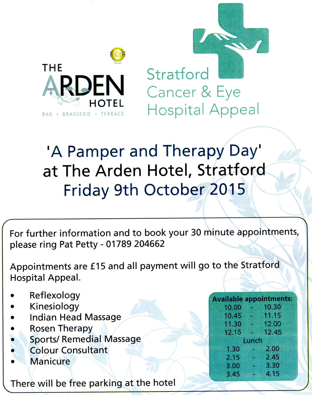 Stratford Hospital Appeal Poster