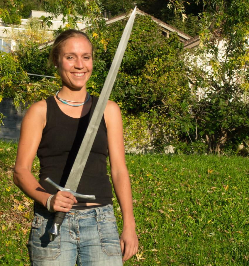4 Tage Kurs, Schwert aus Kohlenstoffstahl   4 Day sword class, carbon steel blade