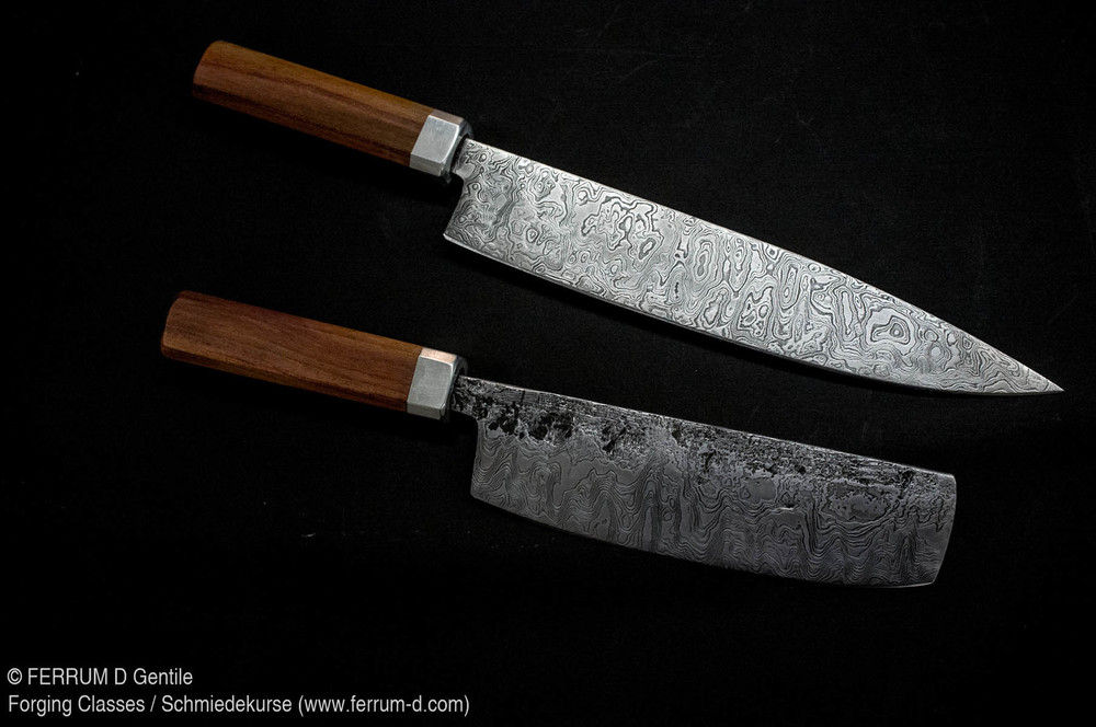 2-3 Tage Kochmesser Kurs, Damaszenerstahl   2-3 Day Chef's Knife Class, Patternwelded steel
