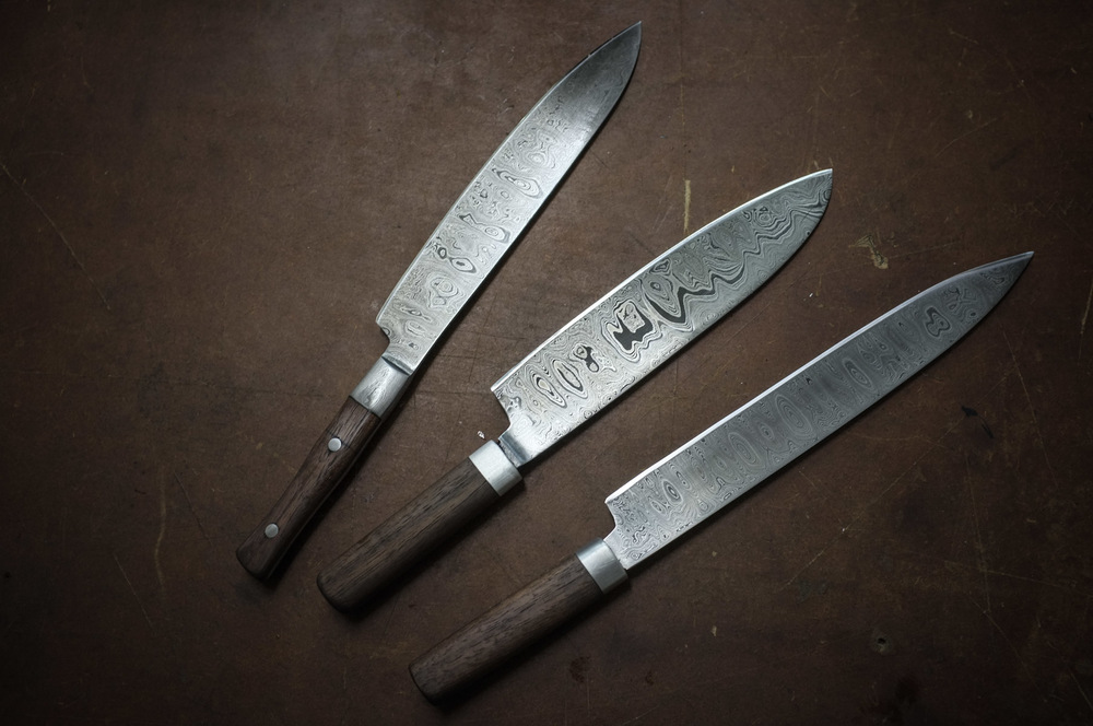 2-Tage Kurs: Kochmesser, Damaszenerstahl   2-Day Chef's Knife Class, Patternwelded steel