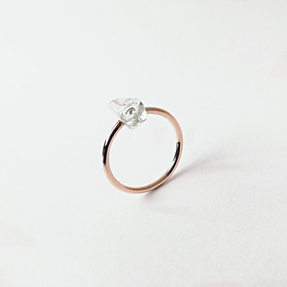 Ring No.4 - Bergkristall / Roségold 750 / Fr. 360.00