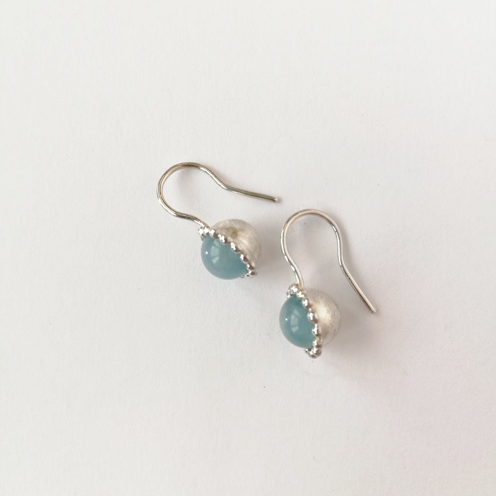 Ohrschmuck No.3 - Aquamarine / Silber 925 / Fr. 190.00 auch mit Perlen erhältlich