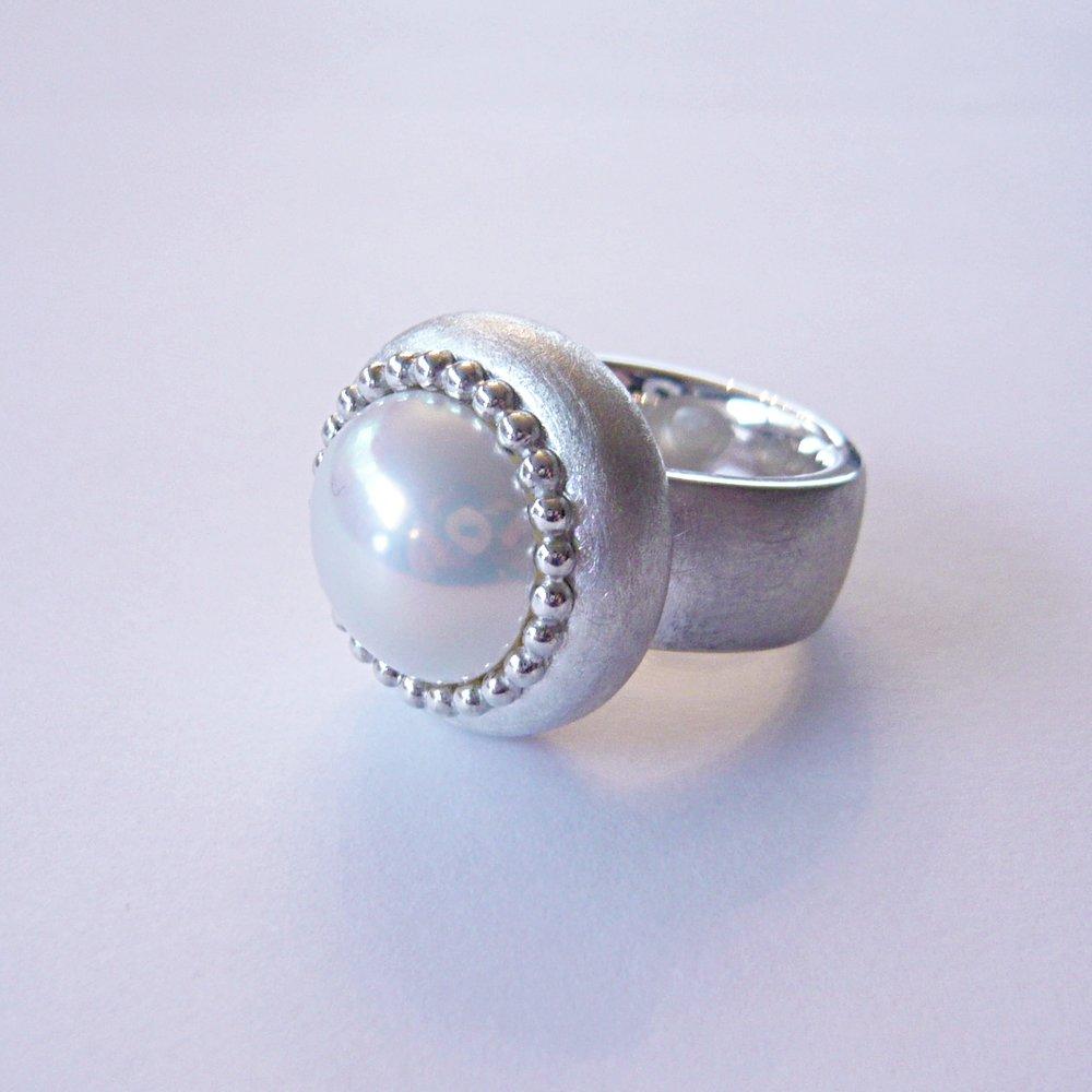Ring - KundenanfertigungSilber 925 / Mabeperle