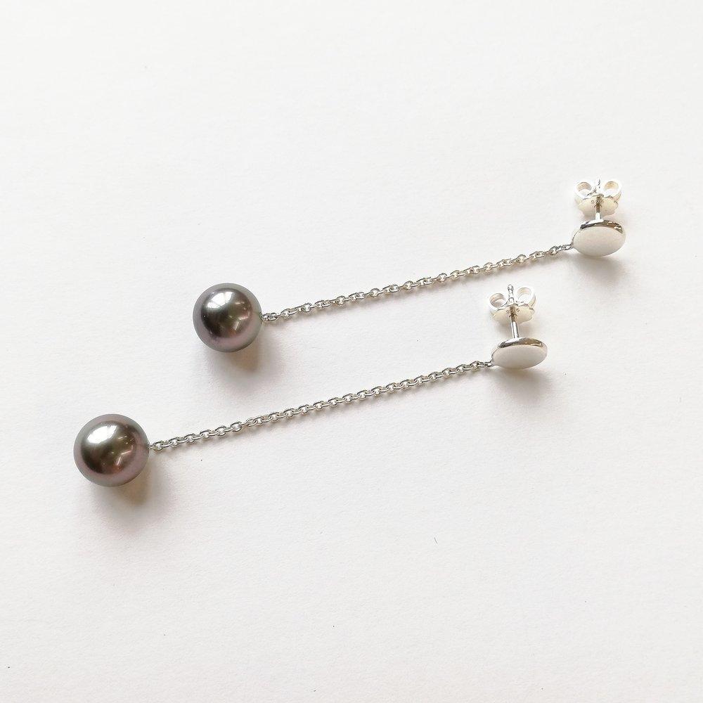 Ohrschmuck No.11 - Silber 925 / Tahitiperlen / Preis variierendauch in anderen Metallen und Perlen erhältlich
