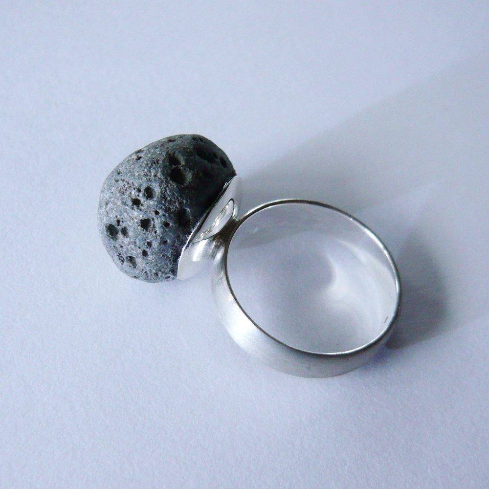 Ring - KundenanfertigungSilber 925 / Lava-Stein