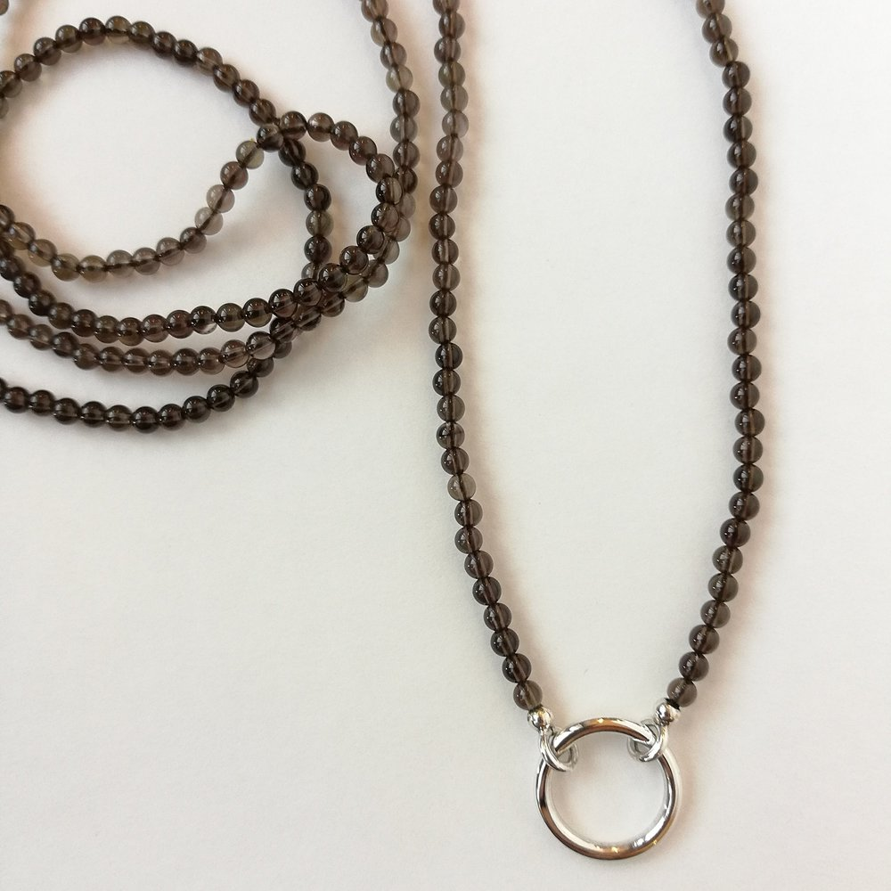 Halskette - KundenanfertigungSilber 925 / Rauchquarz