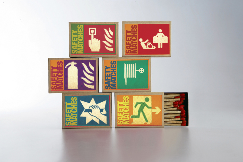 "Fun packaging for ""Safety"" matchsticks"