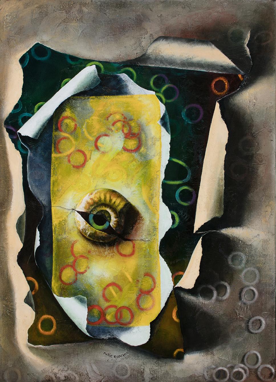 Visions, 1998 Acrylique sur toile marouflée  Dimensions : 48pcsx34pcs