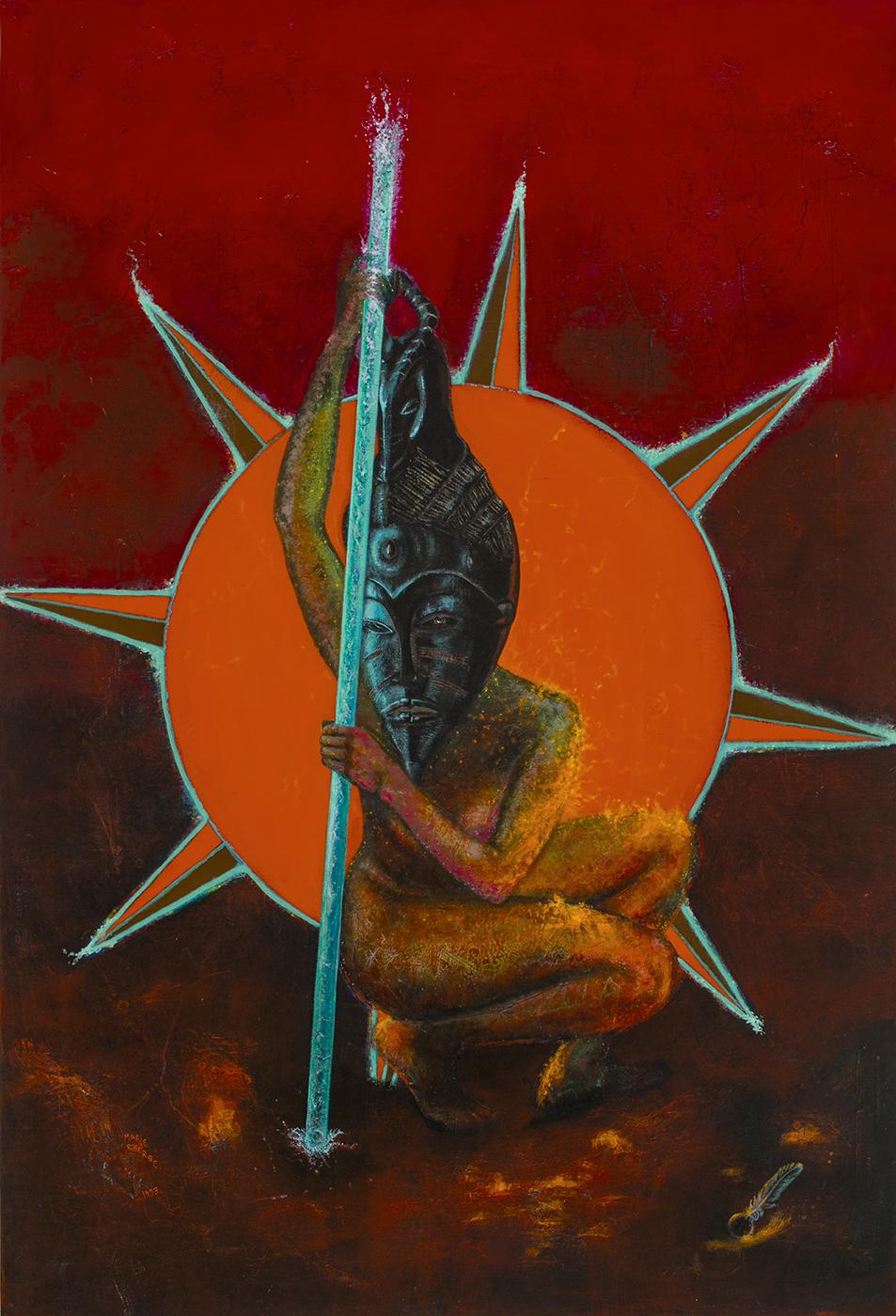 Où est le soleil? Acrylique sur toile marouflée, 183 x 122 cm