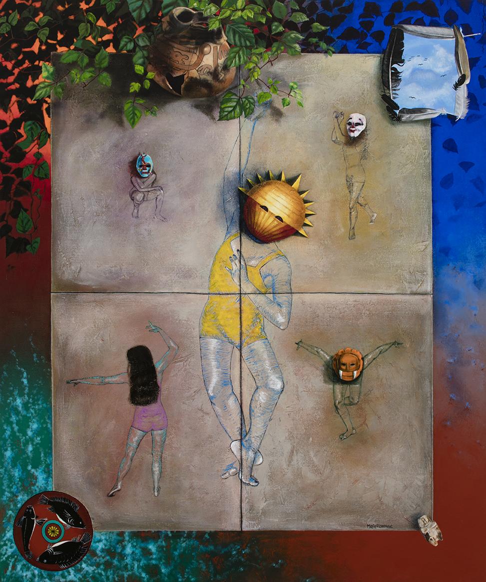Quelques instants de Joie, acrylique sur toile marouflée, 183 x 152 cm