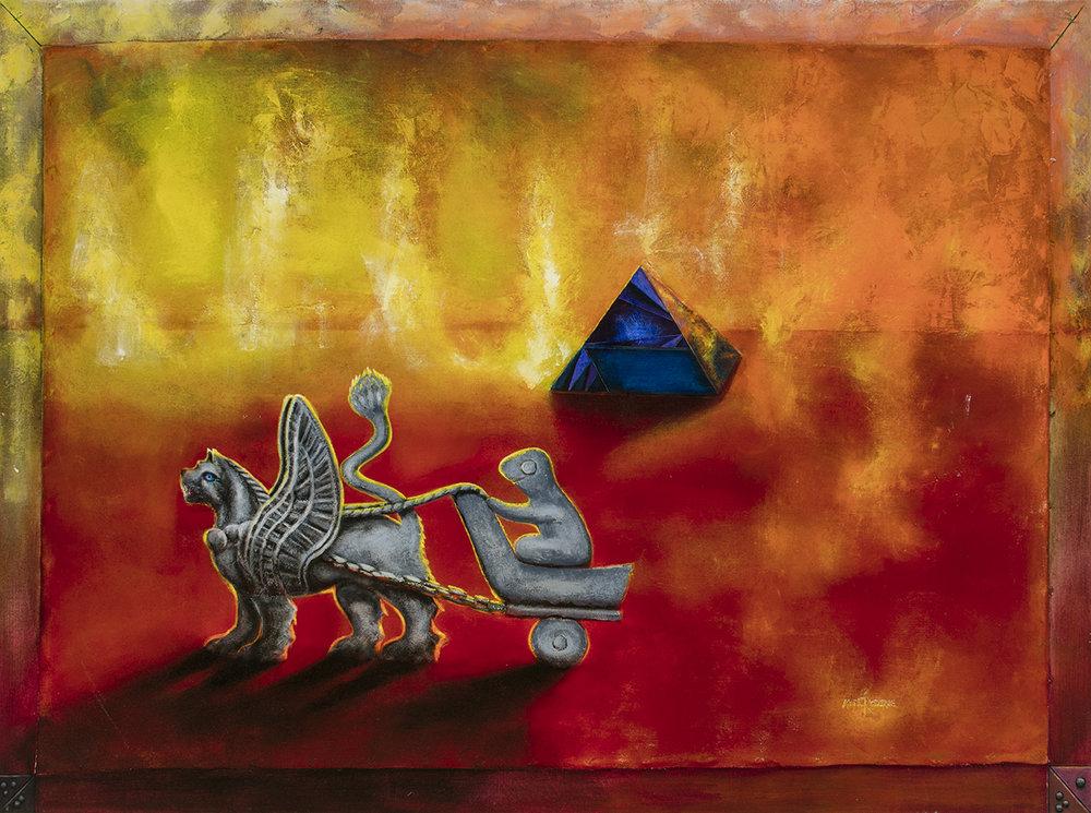 Le Mat, acrylique sur toile marouflée, 48 pcs x 66 pcs