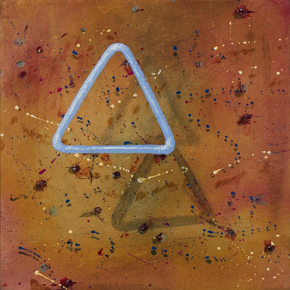 Calcul complexe, acrylique sur toile marouflée, 12 pcs x 12 pcs