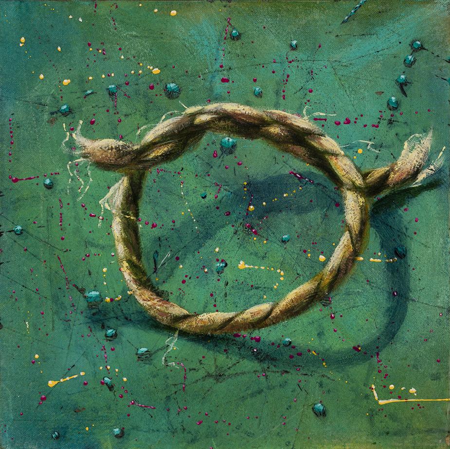 Un Révolutionnaire tranquille, acrylique sur toile marouflée, 12 pcs x 12 pcs
