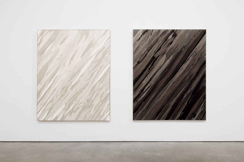 Sediment I And II  2015, Acrylic On Canvas 200 x 160 cm (each)