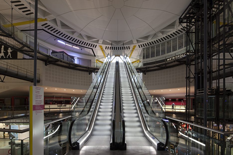 Interior escalators