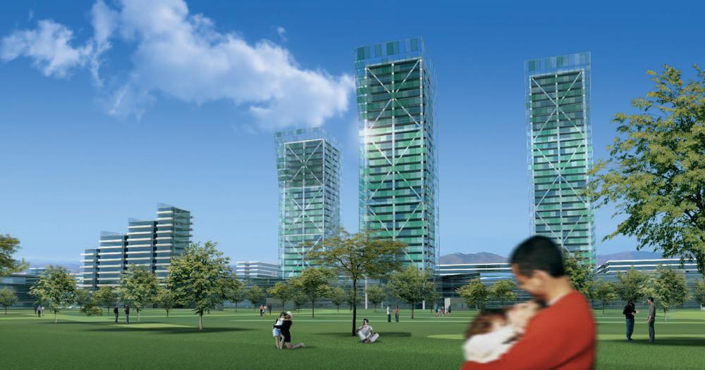 Park view rendering