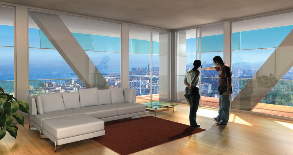 Apartment view rendering