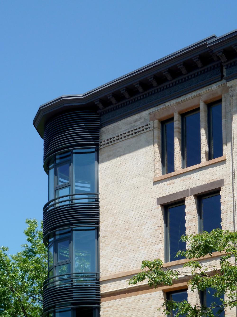 Exterior turret detail