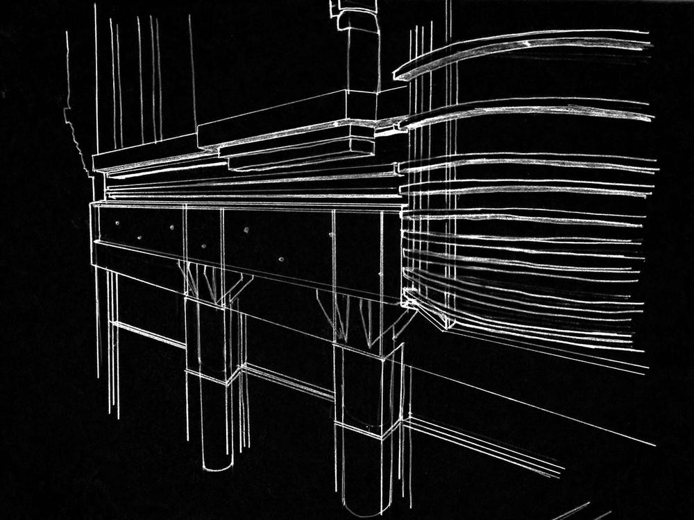 Exterior detail sketch