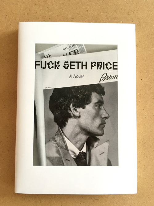 Fuck Seth Price, by Seth Price, 2015. Leopard Press, New York (pictured: second, hardcover edition).