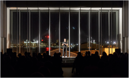 Seth Price reading from Fuck Seth Price at The Whitney Museum of American Art, November 20, 2015. Photograph by Filip Wolok.
