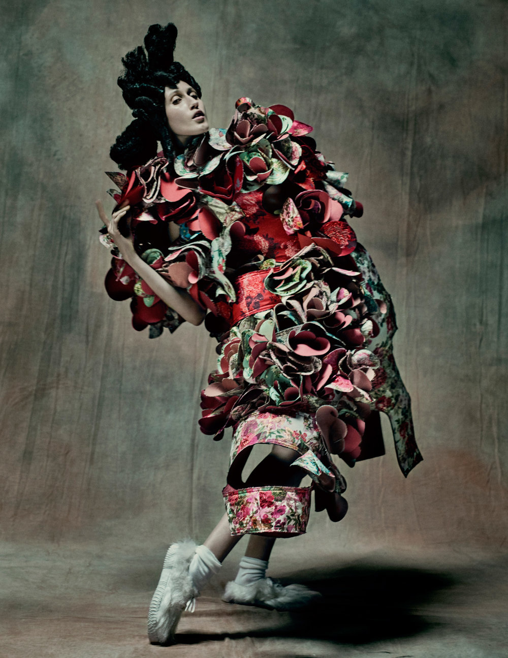 "Paolo Roversi/Comme des Garçons/The Metropolitan Museum of Art Publicity photo for Kawakubo's ""18th-Century Punk"" collection, autumn/winter 2016–2017"