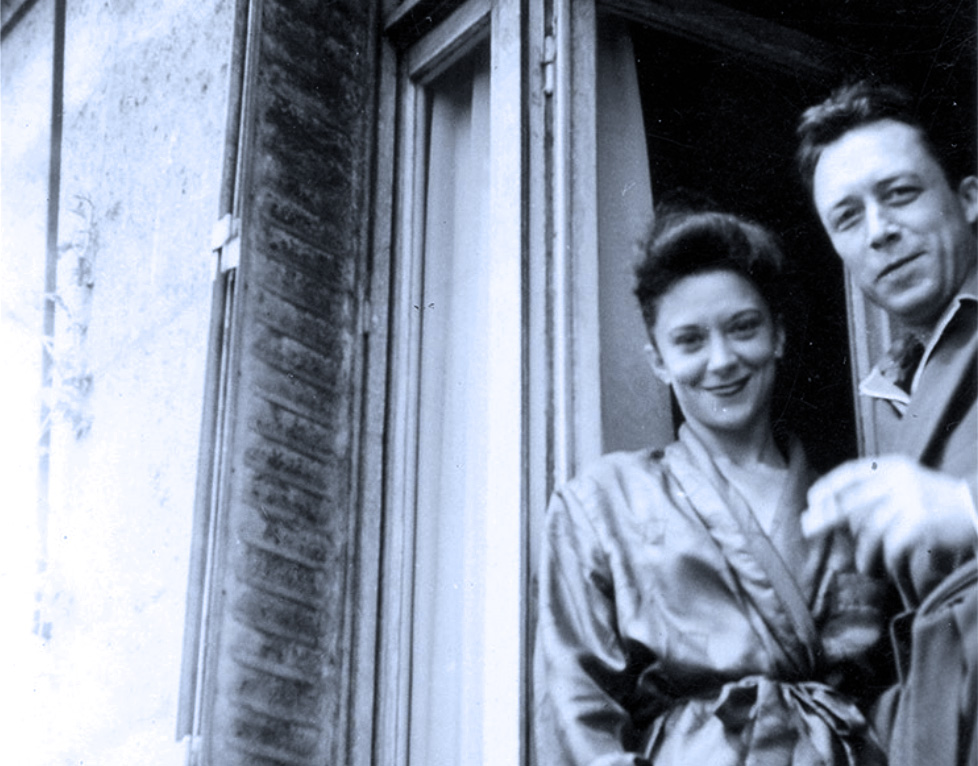 Maria Casares and Albert Camus.