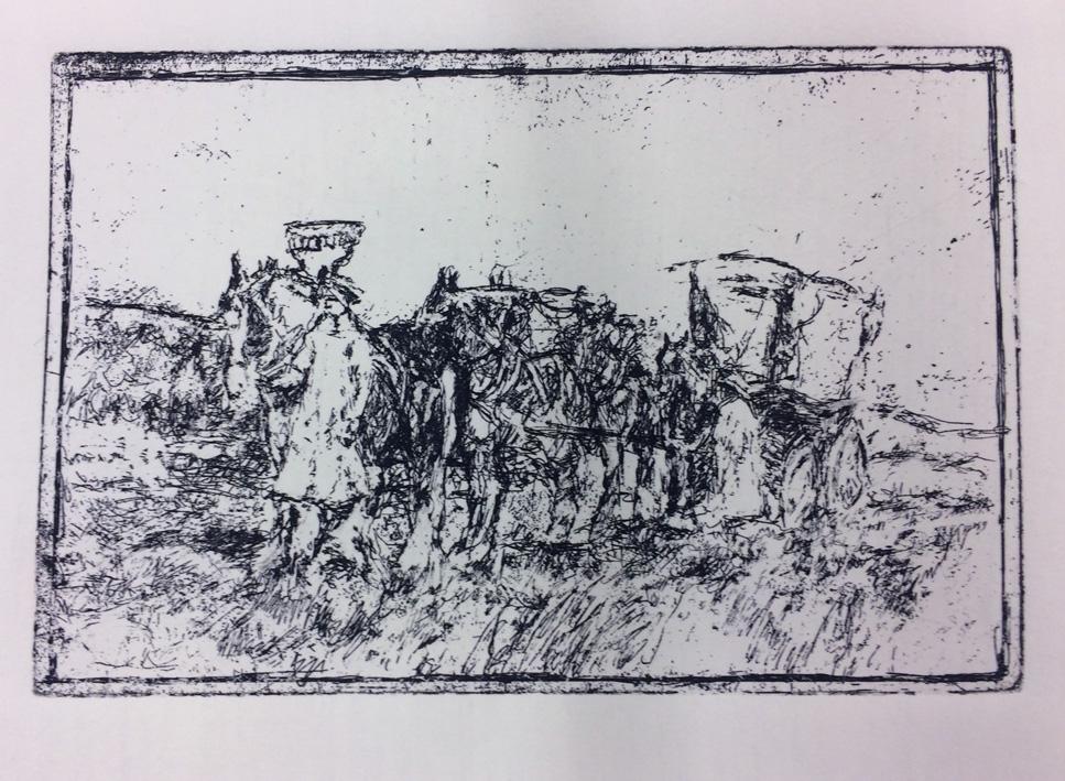 ARTeology project/exhibition, a team, wagon, horsebells
