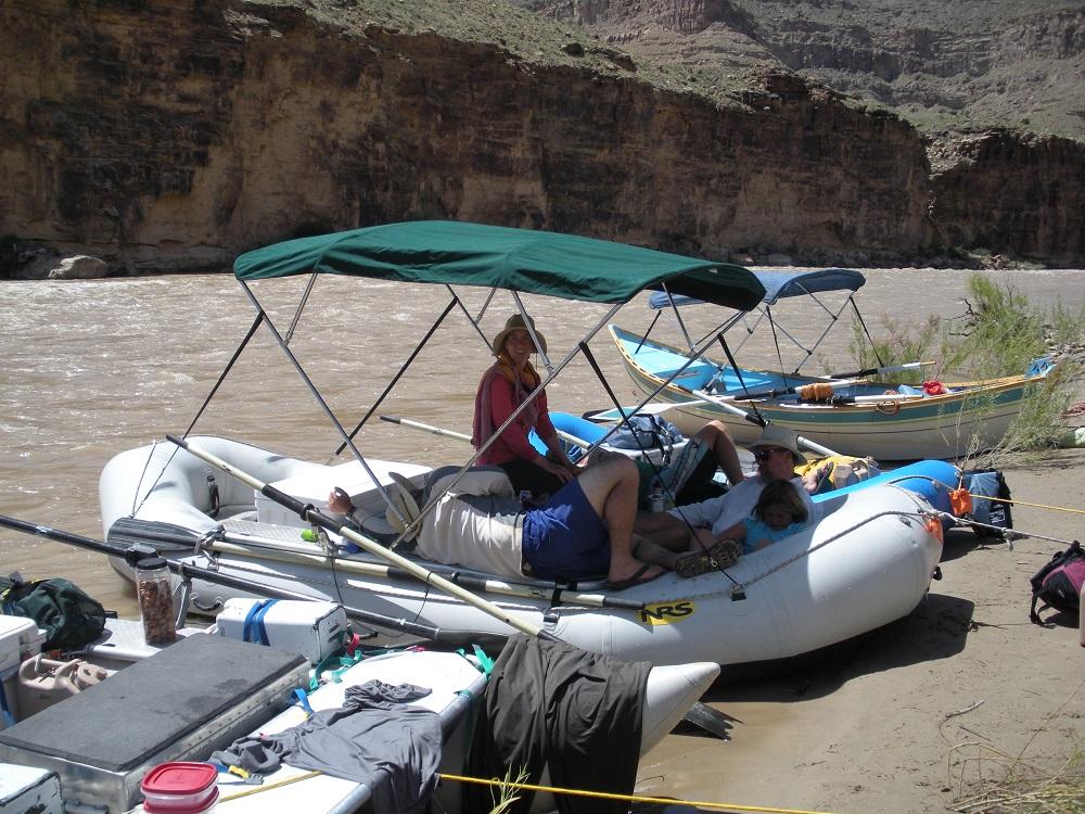 raft with bimini