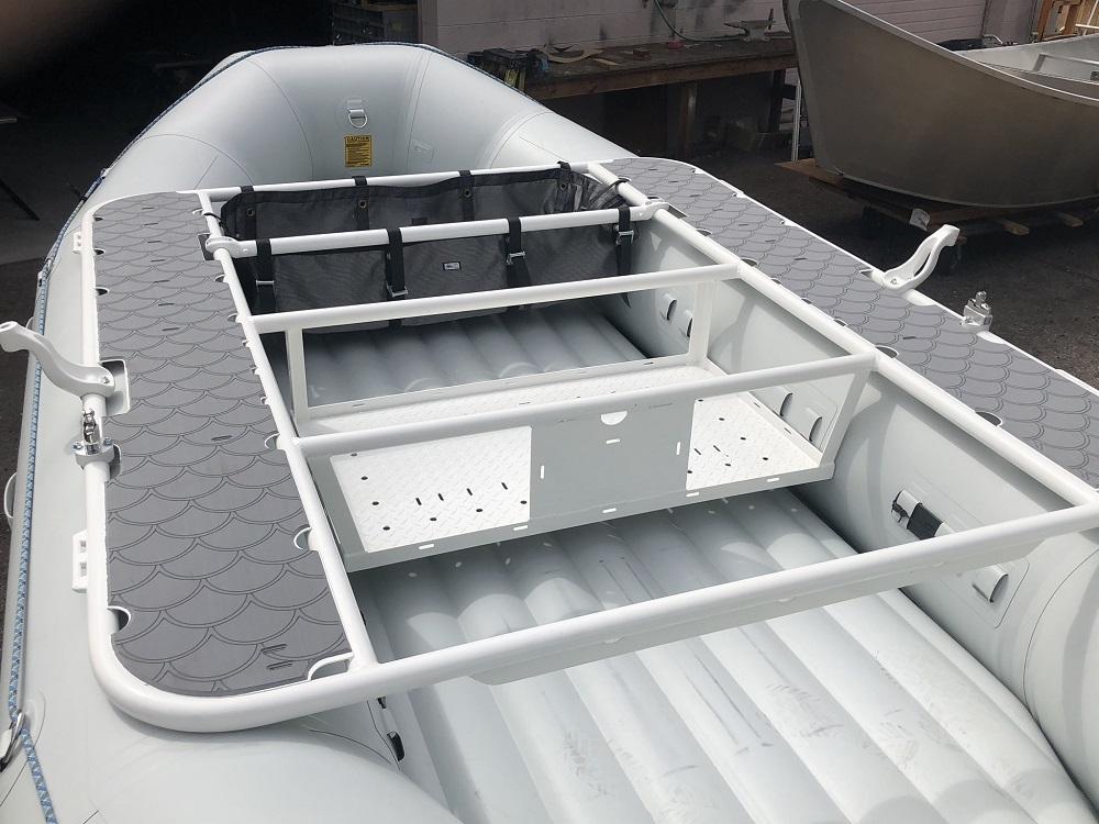 SeaDek side decks on frame on NRS E-160