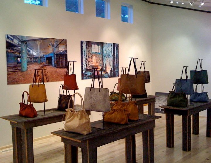 B May Designer Handbag Store Front in Harbor Springs, Michigan