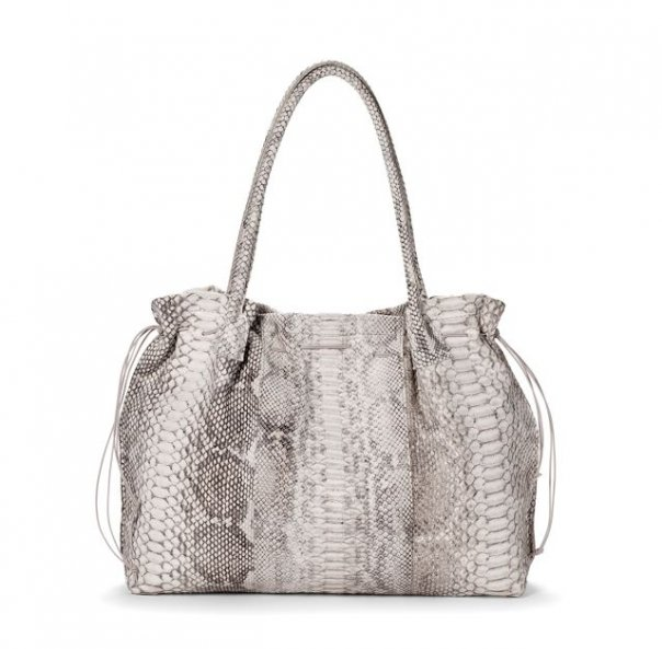b may python bag made in Northern Michigan, designer handbag from Michigan