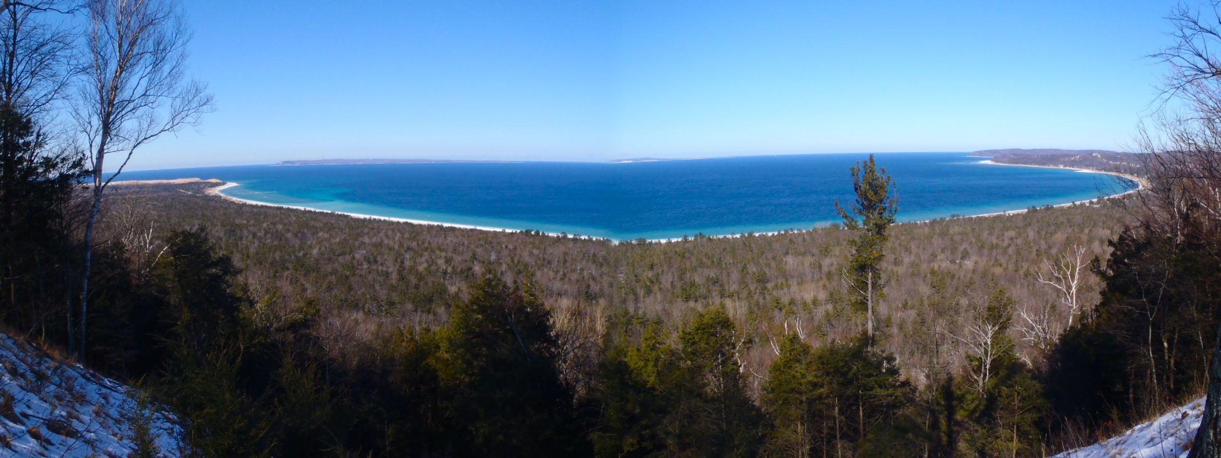 image of a view of lake michigan
