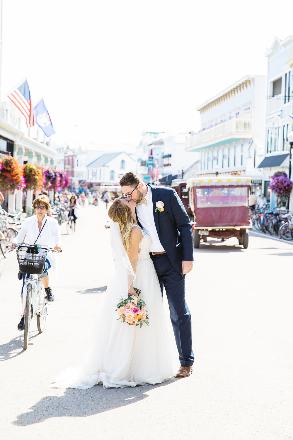 Bride and Groom on Mackinac Island | Rayan Anastor Photography | Mackinac Island Photographer.jpg