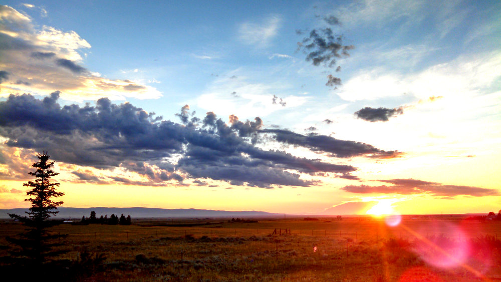 Sunset over the Snowy Range in southeastern Wyoming, as viewed from Laramie, WY.