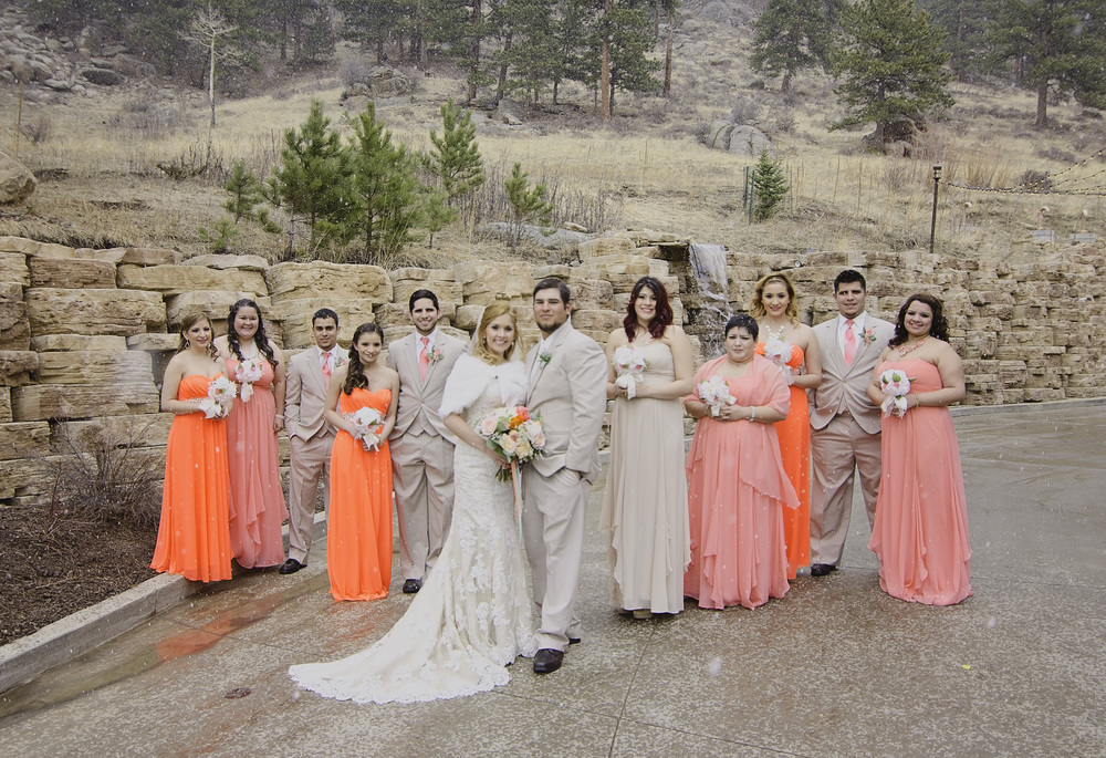 The Bridal Party, jut before it started to snow with rain. We call it, slush snow in Co.