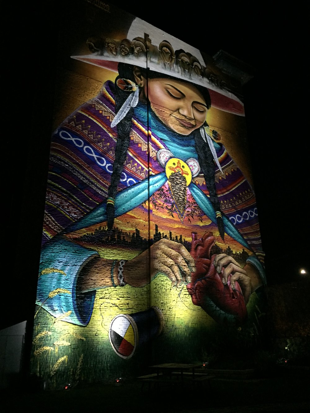 Mending Mural Graffiti Gallery Winnipeg