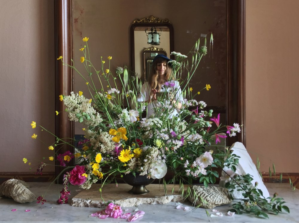 Flowers in the Foyer at Villa Lena by Siri Thorson