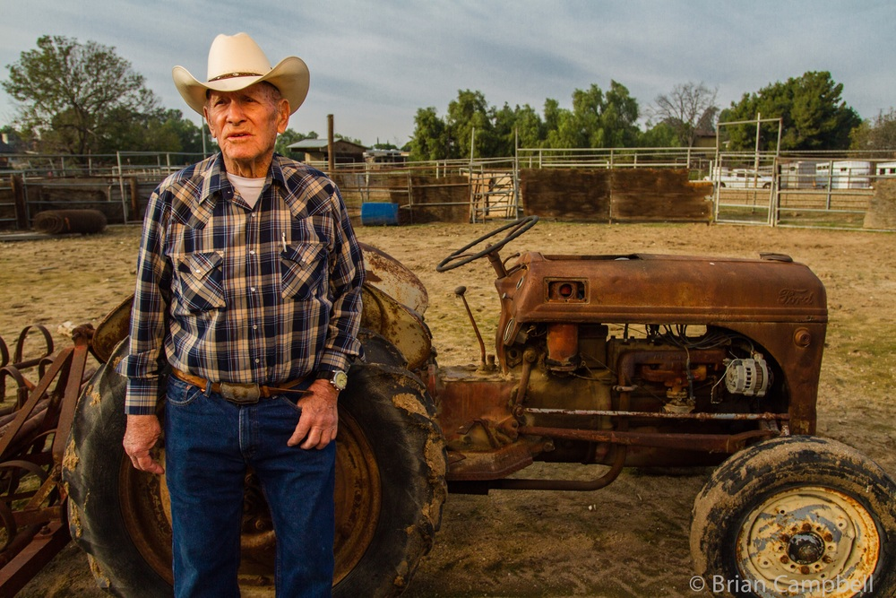 Doc Coplen on his ranch.
