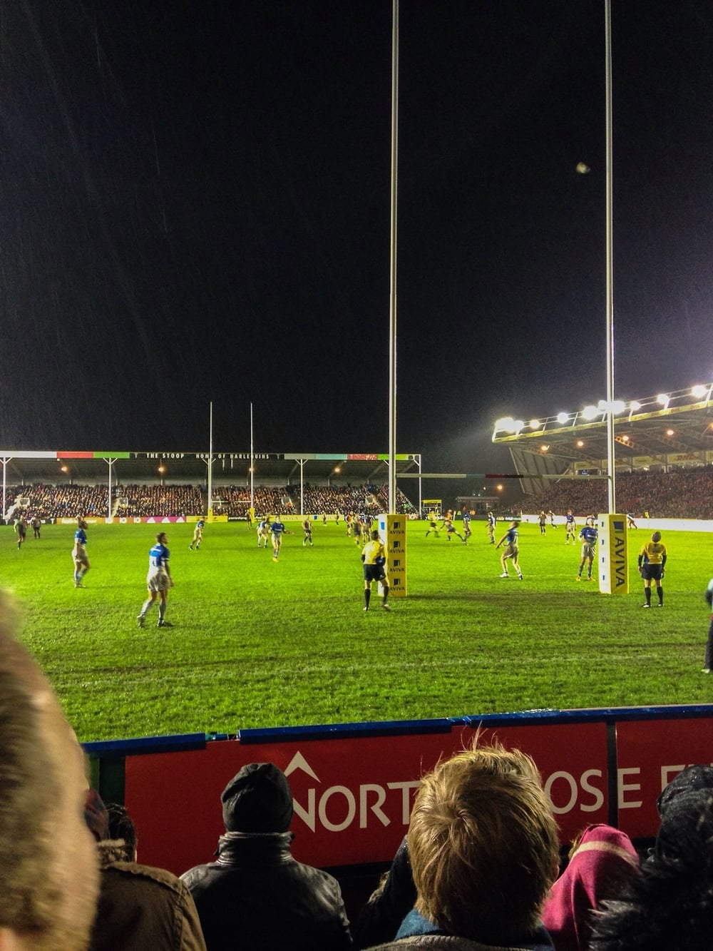 Ben Botica's penalty kick gave Harlequins a lead they would not surrender in my first ever live match.